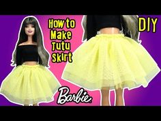 DIY How to Make Barbie Doll Tutu Skirt - Doll Clothes Tutorial! After passing Halloween time, we are moving on the doll clothes and doll hairst. Diy Doll Tutu, Diy Tutu Skirt, Barbie Dolls Diy, Barbie Dress, Sewing Barbie Clothes, Barbie Sewing Patterns, Muñeca Diy, Robes Tutu, Barbie Wardrobe
