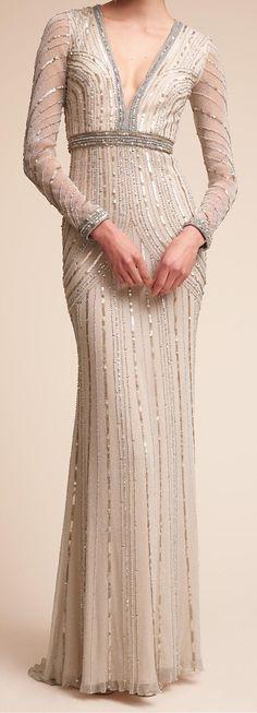 Long sleeve chic Wedding Dress by BHLDN