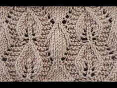 Yaprak Modeli - YouTube Lace Knitting Stitches, Knitting Blogs, Knitting For Beginners, Baby Knitting Patterns, Knitting Designs, Stitch Patterns, Crochet Patterns, Free Crochet Bag, Knit Crochet
