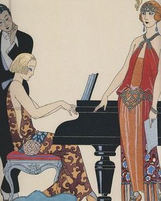 Incantation - vintage 1920's Art Deco fashion illustration by Georges Barbier