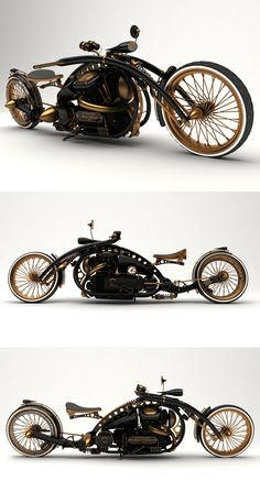 ♂ Steampunk Style v.1 concept motorcycle original from http://solifdesign.blogspot.com/