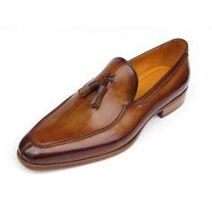 New Men Handmade Marshall Street London Gentleman Handmade Tassel Loafer Camel and Brown - Handmade Shoes by Oscar Williams Shoemaker