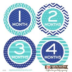 Baby Month Milestone Stickers FREE Baby Month Sticker Baby Monthly Stickers Baby Boy Bodysuit Sticker Baby Gift Chevron Navy Blue Teal 069B by AppleEyeBabyShop on Etsy https://www.etsy.com/listing/225221585/baby-month-milestone-stickers-free-baby