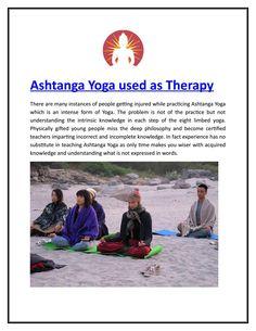 Ashtanga yoga used as therapy