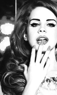 Lana Del Rey #LDR :: Retro Hair and Makeup inspiration:: Lana Del Rey:: Winged…