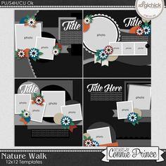 Nature Walk - 12x12 Templates (CU Ok)