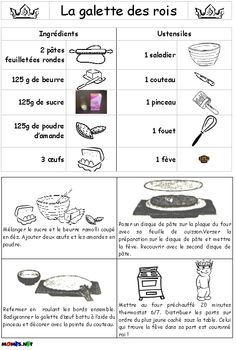 recette de la galette des rois Teaching French, French Teacher, French Cookies, French Baby, Bon App, World Thinking Day, Core French, French Classroom, French Resources