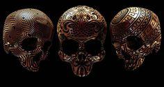 La sérieHope You Like Skulls du designer anglaisBilly Bogiatzoglou, aka Billelis, qui a imaginé 50 crânes gravés avec des motifs inspirés de nombreuses