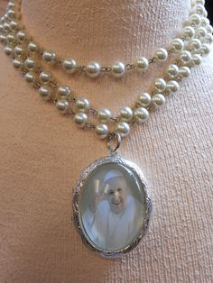 POPE FRANCIS LOCKET pendant cameo necklace by SiouxZanneMessix