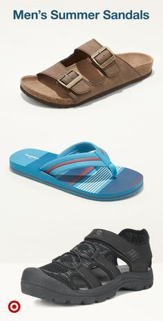 73d16a69b25151 Refresh your spring wardrobe with mens sandals. Find summer flip-flops  slides classic leather