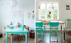 mesa comedor de color verde - Buscar con Google