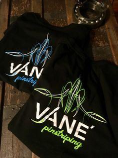 Men\'s T-shirt Pinstriping Green Pinstriping Design by VanePinstriping on Etsy #vanepinstriping