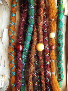 10 Custom Dreads Hair Wraps & Beads Bohemian by PurpleFinchStore