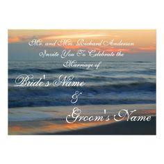 Beach Sunset Wedding Invitation
