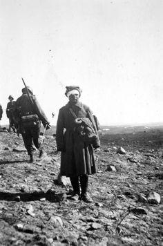 Soviet soldier that was bandaged and taken prisoner during a battle in Titovka, Murmansk Oblast on 29 June, 1941.