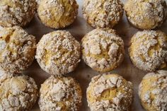 Moosewood Muffins - with pumpkin, apples and a cinnamon sugar streusal topping