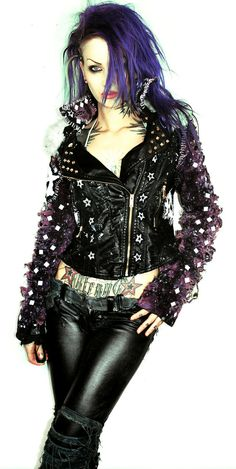 Leather punk jacket on Etsy,