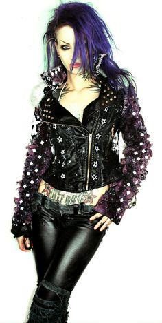 Leather punk jacket on Etsy, $322.89 CAD