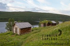 Utsjoki church cottages at summer in Utsjoki, Finnish Lapland. Photo by Terhi Tuovinen. Filming Locations, Barns, Arctic, Finland, Cottages, Wilderness, Houses, Cabin, Spaces