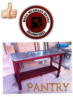 Base para pantry estilo sencillo de madera