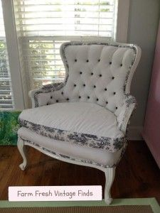 How to Reupholster a Chair - Farm Fresh Vintage Finds