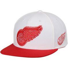 Detroit Red Wings Reebok Two-Tone Adjustable Snapback Hat - White Red ec8eca184