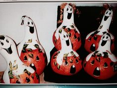 Painted gourds by Gail Beckwith