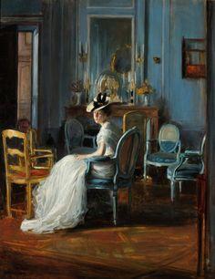 Le Boudoir bleu, 1905 by Jacques-Émile Blanche (1861-1942).