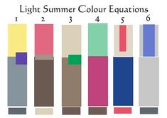 12 Blueprints Light Summer Colour Equations