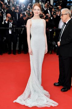 Emma Stone in a Dior Couture gown - Cannes Film Festival