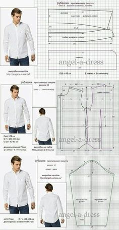 men's shirt pattern with sleeve variations free pattern diagramRead more about mens shirts♥ Deniz ♥Tap the link to check out great cat products we have for your little feline friPattern Making Fundamentals: Dart manipulation and pivot points (VIDEO)Ch Mens Sewing Patterns, Sewing Men, Sewing Clothes, Clothing Patterns, Diy Clothes, Dress Patterns, Shirt Patterns, Pattern Sewing, Sewing Coat