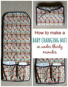 Sew your own baby changing mat in thirty minutes · vicky myers creations Need a thrifty baby gift in a rush? Sew up a baby changing mat in thirty minutes. Step by step tutorial. This is a great gift for any expectant mother. Baby Sewing Projects, Sewing Projects For Beginners, Sewing Hacks, Sewing Tips, Sewing Ideas, Baby Sewing Tutorials, Sewing Crafts, Baby Changing Mat, Diaper Changing Pad