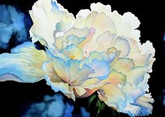 Shop online for canvas, art prints, art cards of DEW DROPS ON PEONY watercolor flower painting of a white peony by contemporary artist Hanne Lore Koehler. Art Floral, Peony Painting, Watercolor Flowers, Watercolor Paintings, Flower Paintings, Art Paintings, Watercolors, Fine Art Amerika, Oeuvre D'art