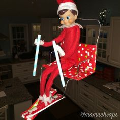 Elf on Ski Lift