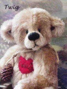 Twig, A Mohair Teddy Bear By Artist Jordan McKinnon