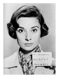 Audrey Hepburn hairdress test, c. 1958