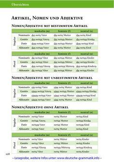 Artilel, nomen und adjektive