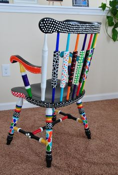 My crazy painted chair
