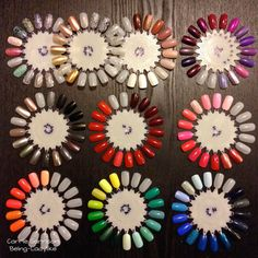 How to organize your nail polishes using nail wheels from Sally's. It makes it so much easier to find a color and decide on what I'm in the mood to paint my nails.