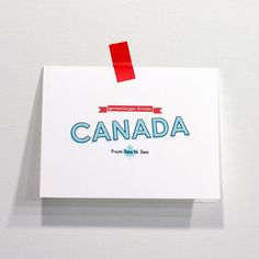 Greetings from Canada Card by Red Star Ink on @Etsy!