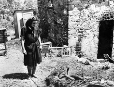 An Italian woman looks over the corpse of a dead male civilian, killed by the German Fallschirm-Panzer Division 1 Hermann Göring. Pin by Paolo Marzioli