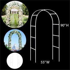 BalsaCircle 90 x 55 Decorative Metal Wedding Arch White Budget Wedding, Wedding Tips, Trendy Wedding, Diy Wedding, Wedding Events, Wedding Flowers, Destination Wedding, Wedding Planning, Wedding Punch