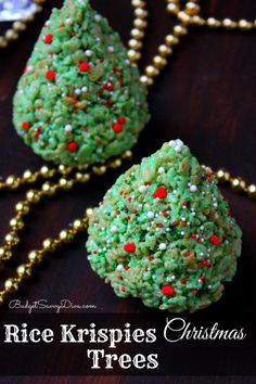 Perfect for Christmas - Kids can help! - Easily made gluten - free - Rice Krispies Christmas Trees Recipe