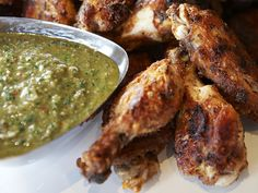 Chicken Wings with Salsa Verde Recipe : Guy Fieri : Food Network - FoodNetwork.com