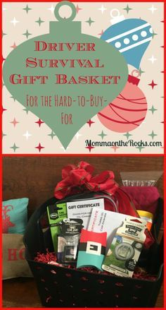 """""""Driver Survival"""" Gift Basket - perfect for your new driving teen or hard to buy gift recipient!!! #LoveAmericanHome (AD)"""