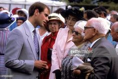 News Photo : Prince Edward chats to the public after attending...