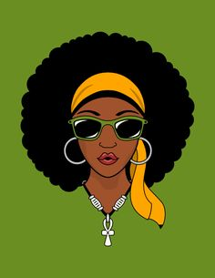 Beautiful black woman with afro wrap hairstyle and earrings / Curly Curl / miss African beauty Black Love Art, Black Girl Art, Beautiful Black Women, Black Girl Magic, Art Girl, Black Style, Black Cartoon, Cartoon Art, Natural Hair Art