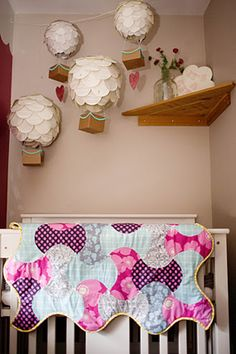 Hot Air Balloon Up and Away Baby Girl Nursery   Baby Lifestyles