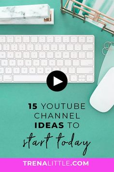 Are you afraid you are too niched down to have a successful YouTube channel? Most business ideas will work on Youtube! I'm sharing 15 EASY YouTube Channel Ideas To Get Started. #youtubetips #youtube #entrepreneur #trenalittle #smallbusiness #creativesmallbusiness