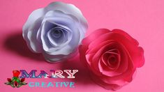 Mary Creative – Origami #9 |How to make origami rose| easy origami rose ...